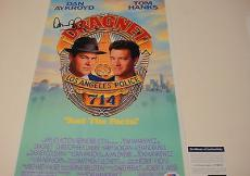 Dan Aykroyd Signed Dragnet Photo Movie Poster Tom Hanks Psa/dna Coa # U34031