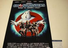 Dan Aykroyd Signed Ghostbusters Photo Movie Poster Psa/dna Coa # U34030