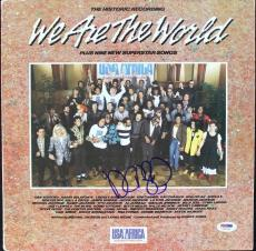 Dan Aykroyd We Are The World Signed Album Cover W/ Vinyl PSA/DNA #U52949