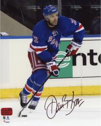 "Dan Boyle New York Rangers Autographed Blue Jersey With Puck 8"" x 10"" Photograph"