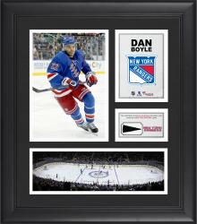 """Dan Boyle New York Rangers Framed 15"""" x 17"""" Collage with Piece of Game-Used Puck"""