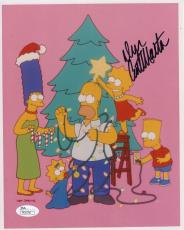 DAN CASTELLANETA HAND SIGNED 8x10 COLOR PHOTO    HOMER SIMPSONS XMAS        JSA