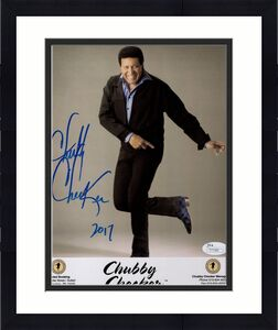 CHUBBY CHECKER HAND SIGNED 8x10 COLOR PHOTO   LET'S TWIST    GREAT SINGER    JSA