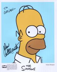 DAN CASTELLANETA HAND SIGNED 8x10 COLOR PHOTO+COA       HOMER SIMPSON   TO BRIAN