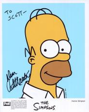 DAN CASTELLANETA HAND SIGNED 8x10 COLOR PHOTO+COA      HOMER SIMPSON    TO SCOTT