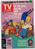 Dan Castellaneta & Nancy Cartwright signed autographed TV guide! Beckett BAS COA