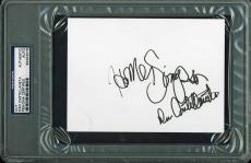 "Dan Castellaneta Signed 4""x6"" Card The Simpsons Psa/dna Encapsulated 83453078"