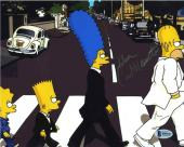 Dan Castellaneta Simpsons Beatles Autographed Signed 8x10 Photo Beckett BAS COA