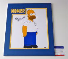Dan Castellaneta The Simpsons Signed Homer 11x14 Photo (double-matted 14x18) Psa