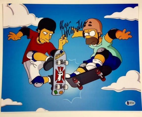 DAN CASTELLANETA Voice of Homer SIMPSONS Signed 11x14 Photo BAS Beckett COA Auto