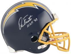 Dan Fouts Autographed Proline Helmet w/ HOF 93 - Mounted Memories