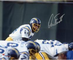 Dan Fouts San Diego Chargers Autographed 8'' x 10'' Over Center Photograph