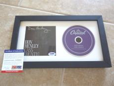 Dan Henley Eagles Cass County Signed Autographed Framed CD Display PSA Certified