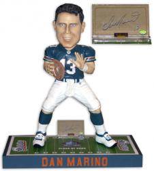 "Miami Dolphins Dan Marino Signed 36"" Hall of Fame Bobble Head - Mounted Memories"