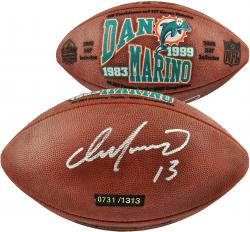 Dan Marino Autographed Limited Edition Hall of Fame Football