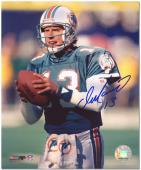 "Dan Marino Miami Dolphins Autographed 8"" x 10"" Both Hands on Ball Photograph"