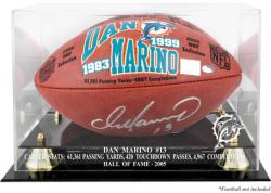 Miami Dolphins Dan Marino Hall of Fame Football Case - Mounted Memories