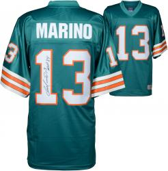 Dan Marino Miami Dolphins Autographed Teal Pro-Line Authentic Jersey with MVP 84 Inscription