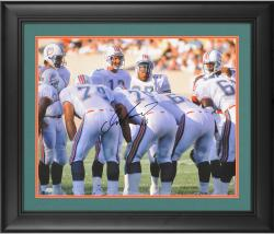 "Dan Marino Miami Dolphins Framed Autographed 16"" x 20"" Huddle Shot Photograph"