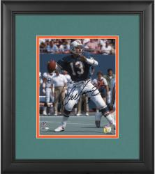 "Dan Marino Miami Dolphins Framed Autographed 8"" x 10"" Black Ink Photograph"