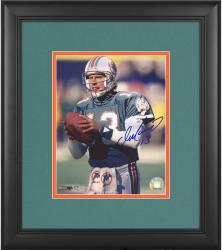 "Dan Marino Miami Dolphins Framed Autographed 8"" x 10"" Both Hands on Ball Photograph"