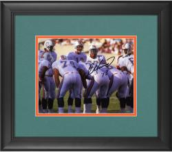 "Dan Marino Miami Dolphins Framed Autographed 8"" x 10"" Huddle Photograph"