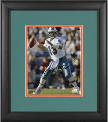 "Dan Marino Miami Dolphins Framed Autographed 8"" x 10"" Passing Black Ink Photograph"