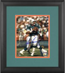 "Dan Marino Miami Dolphins Framed Autographed 8"" x 10"" Passing Photograph"