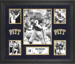 Dan Marino Pittsburgh Panthers Framed 5-Photo Collage