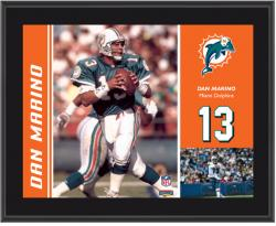 Miami Dolphins Dan Marino 10.5'' x 13'' Sublimated Plaque - Mounted Memories