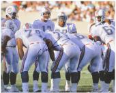 Dan Marino Miami Dolphins Autographed 16'' x 20'' Huddle Shot Photograph - Mounted Memories