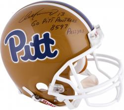 Dan Marino University of Pittsburgh Panthers Autographed Proline Helmet with Go Pitt Panthers! Inscription