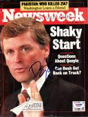 Dan Quayle Certified Authentic Autographed Signed Newsweek Magazine PSA/DNA