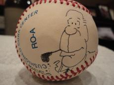 Dana Summers+gerald Ford Hand Signed Al Baseball+coa    Original Drawing Of Ford