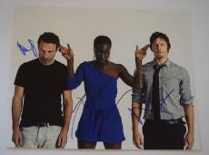 Danai Gurira Andrew Lincoln Norman Reedus Signed 11x14 Photo THE WALKING DEAD VD