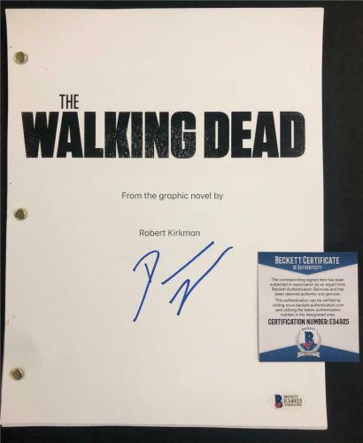 DANAI GURIRA Michonne signed THE WALKING DEAD Full TV Script A ~ Beckett BAS COA