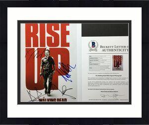 Danai Gurira Norman Reedus Andrew Lincoln +1 Signed 11x14 Photo BAS A06962