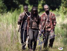 Danai Gurira SIGNED 11x14 Photo Michonne The Walking Dead PSA/DNA AUTOGRAPHED