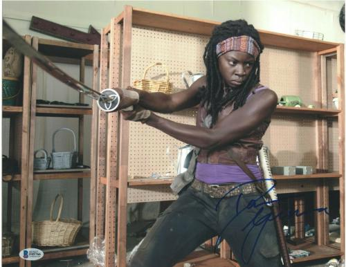 Danai Gurira Signed 11x14 Photo The Walking Dead Beckett Bas Autograph Auto B