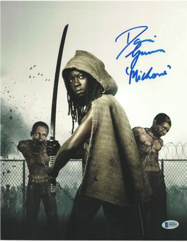 Danai Gurira Signed 11x14 Photo The Walking Dead Beckett Bas Autograph Auto C