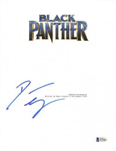 Danai Gurira Signed Black Panther Script Marvel Authentic Autograph Beckett Coa