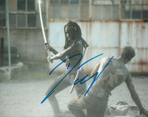 DANAI GURIRA signed (THE WALKING DEAD) TWD *Michonne* 8X10 photo W/COA #1