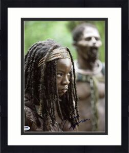 Danai Gurira The Walking Dead Signed 11X14 Photo PSA/DNA #U23656