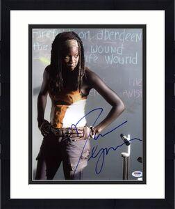 Danai Gurira The Walking Dead Signed 11X14 Photo PSA/DNA #W79793