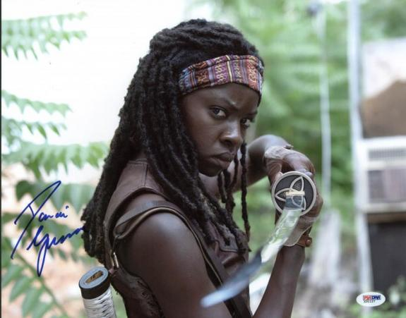 Danai Gurira The Walking Dead Signed 11X14 Photo PSA/DNA #X31127