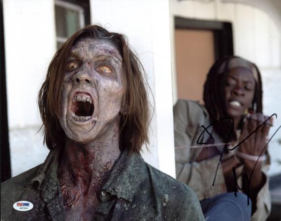 Danai Gurira The Walking Dead Signed 11X14 Photo PSA/DNA #Z57249