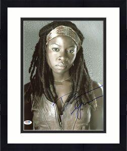Danai Gurira The Walking Dead Signed 11X14 Photo PSA/DNA #Z90217