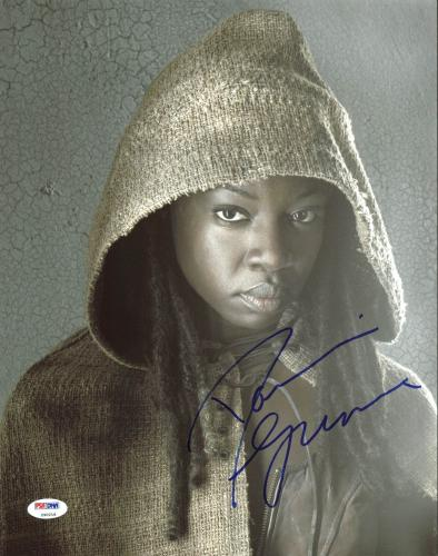 Danai Gurira The Walking Dead Signed 11X14 Photo PSA/DNA #Z90218