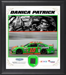 Danica Patrick Framed 15'' x 17'' Composite Collage with Race-Used Metal