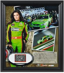 "Danica Patrick 2013 Daytona 500 Pole Position Framed 15"" x 17"" Collage with Piece of Track - Limited Edition of 310"